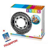 Надувной круг для плавания с ручками Intex 56268 Колесо 114 см