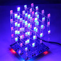 Конструктор N122 Светодиодный 3D куб 4х4х4