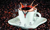 """Часы настенные стеклянные """"Чашка кофе"""""""
