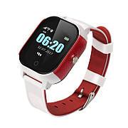 Детские телефон-часы с GPS трекером GoGPSme К23 Белый / Красный
