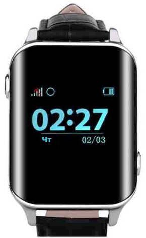 Смарт-годинник з GPS трекером GoGPSme М01 Хром, фото 2