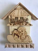 Ключница деревянная, настенная ключница, фото 1