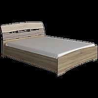 Двухспальная Кровать МАРГО (Дуб сонома+трюфель) 160х200