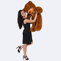 Маленький коричневый плюшевый медведь100 см