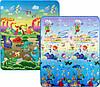 Дитячий двосторонній килимок Limpopo Динозаври і Підводний світ 150х180 см LP013-150