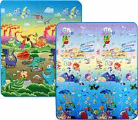 Дитячий двосторонній килимок Limpopo Динозаври і Підводний світ 150х180 см LP013-150, фото 1