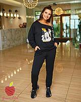 Модный спортивный костюм кофта на одно плече Большой размер, фото 2