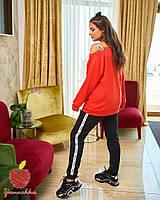 Модный спортивный костюм кофта на одно плече Большой размер, фото 3