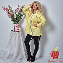 Женская джинсовая куртка батал / большие размеры, фото 3