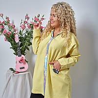 Женская джинсовая куртка батал / большие размеры, фото 4