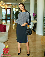 Костюм платье и кофта большого размера, Женский нарядный костюм платье и кофта больших размеров, фото 3