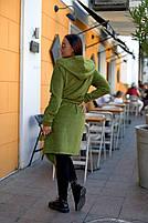 Женский яркий кардиган - парка с капюшоном на запах большого размера,  Кардиган большого размера на запах с капюшоном, фото 3