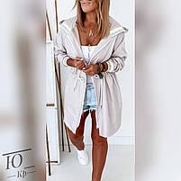 Куртка женская средней длинны плащевка на флисе с капюшоном, Женская куртка из плащевки стеганная, фото 5