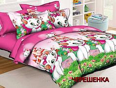 Полуторный набор постельного белья 150*220 из Ранфорса №17639 Черешенка™