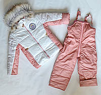 Детский зимний комбинезон для девочки 3-4года, зимние костюмы детские