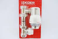 Комплект для подключения радиатора с терморегулятором Koer kr.1321 1/2