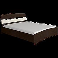 Двухспальная Кровать МАРГО(Венге темный+молочный) 160х200