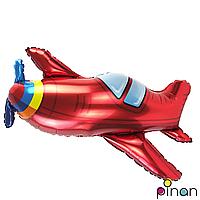 Фольгированный шар 36' Pinan Самолет в упаковке, 90 см
