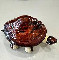 Маленький сувенир из фарфора Черепаха коричневая