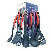 Набір силіконового кухонного приладдя Kitche Tools 7 предметів / Кухонний набір на стійці