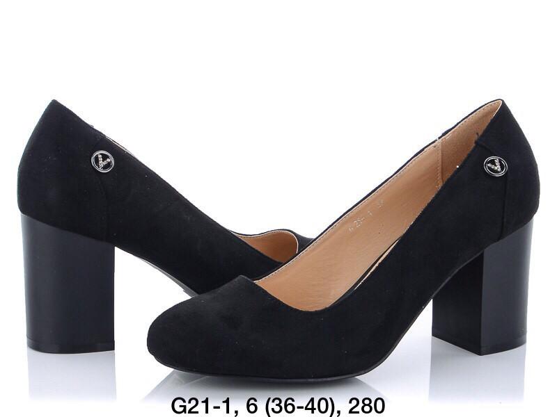 Туфли женские черные Princess G21-1