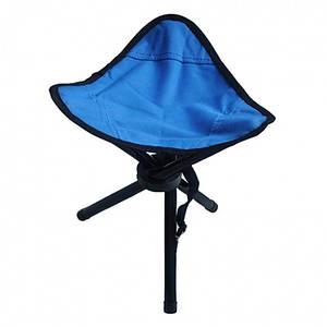Складной стул-тренога (синий)