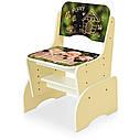 Парта B 2071-89-2(EN) со стульчиком, ваниль, щенки, фото 2