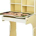 Парта B 2071-89-2(EN) со стульчиком, ваниль, щенки, фото 5