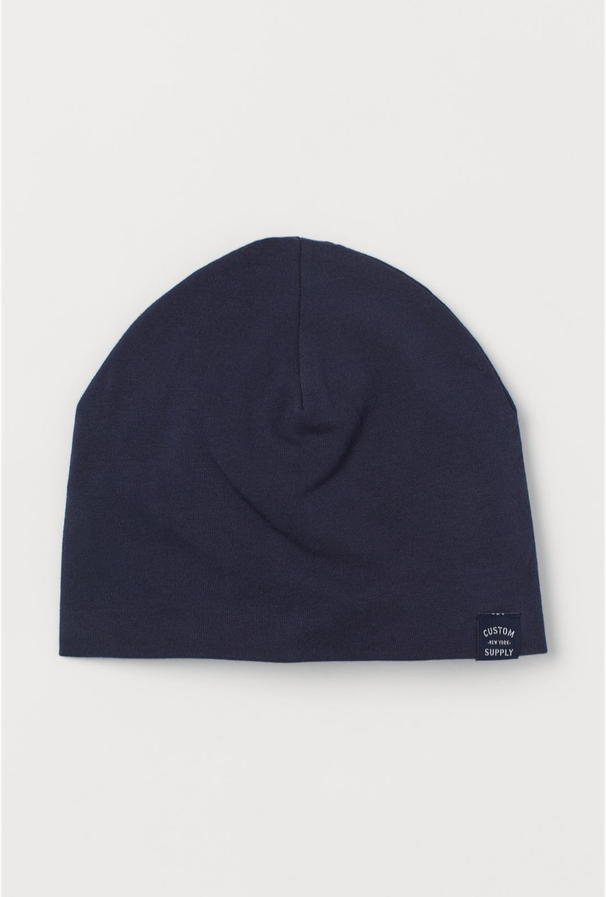 Шапка для мальчика синяя однотонная H&M р.4-8, 8-12лет