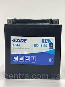 Мото аккумулятор EXIDE ETX16-BS 14Ah