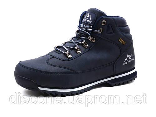 Зимние ботинки мужские BaaS Outdoor, темно-синие на меху