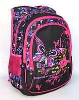 Школьный рюкзак для девочки с бабочками сиреневыми