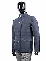 Куртка мужская демисезонная воротник стойка с накладными карманами и воротником стойко
