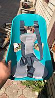 Бирюза легковесное Mini Велокресло переднее, прочный пластик, модный дизайн