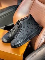 Стильные женские кроссовки Луи Виттон кожанные (Louis Vuitton)