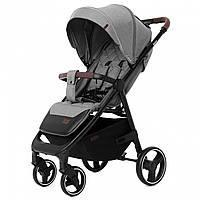 Детская прогулочная коляска серая с дождевиком черная рама CARRELLO Bravo CRL-8512 Elephant Grey