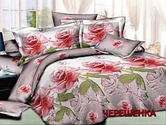 Полуторный набор постельного белья 150*220 из Ранфорса №18549 Черешенка™