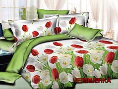 Полуторный набор постельного белья 150*220 из Ранфорса №180021 Черешенка™