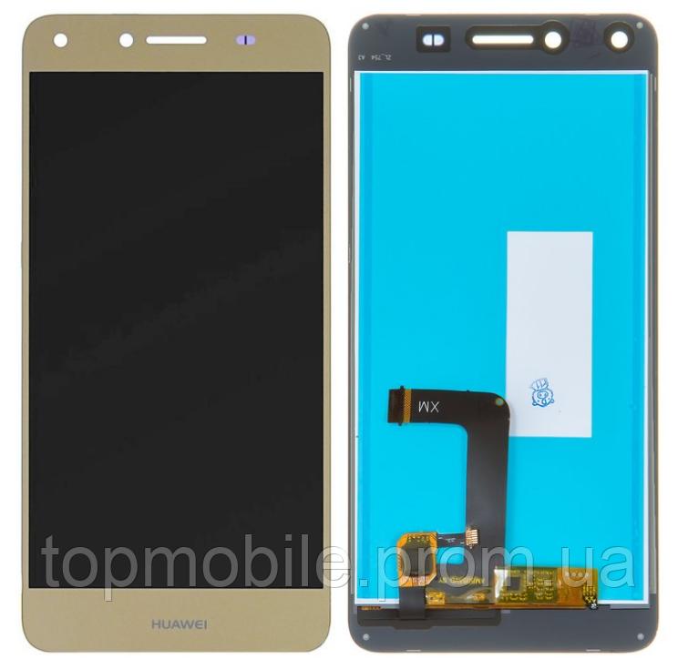 Дисплей Huawei Y5 II 2016 (3G CUN-U29/4G CUN-L21)/Honor 5/Honor Play 5 + сенсор золотистый ( модуль, стекло)