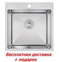 Мойка для кухни из нержавеющей стали врезная матовая Lidz H5050 Brush Handmade(Хендмейд) 3.0/1.0 mm