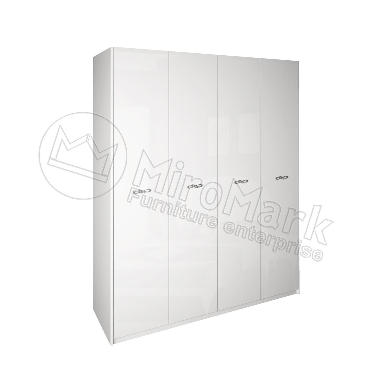 Шкаф Империя 4 дв Белый глянец ТМ МироМарк
