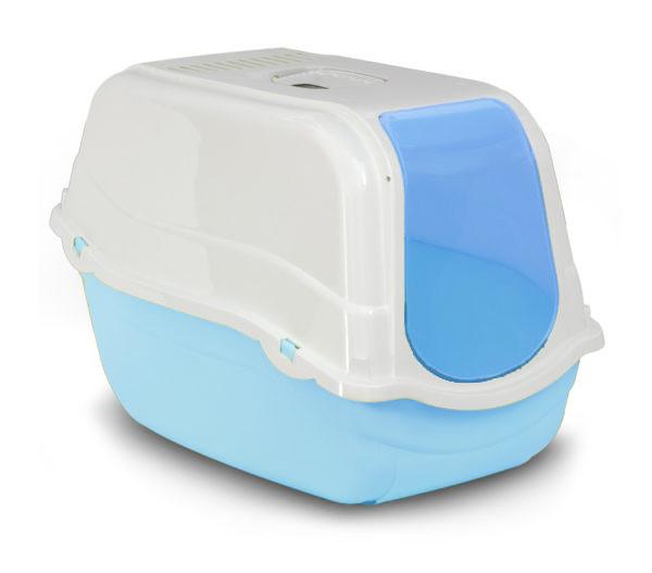 Туалет-бокс для кошек ROMEO BLUE с фильтром 57*39*41 см