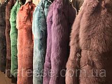 Крашеные шкуры песца финского длина 85-90 см, цвета в ассортименте