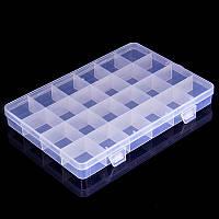 Органайзер, коробка, бокс, контейнер пластиковый для страз, бисера, бусин, фурнитуры на 24 ячейки отделения
