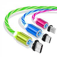 Светящийся-Магнитный    юсб usb кабель шнур провод для зарядки   Type-C