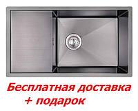 Мойка для кухни из нержавеющей стали чёрная Imperial D7844BL PVD black Handmade (Хендмейд)