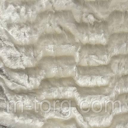"""Плед """"норка"""" белый евро размер 220/240, микрофибра, фото 2"""