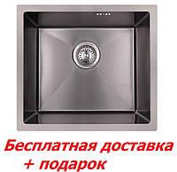 Мойка для кухни из нержавеющей стали чёрная Imperial D4843BL PVD black Handmade(Хендмейд)2.7/1.0 mm