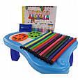 Проектор для малювання дитячий з 12 фломастерами YM6886 24 картинки Синій, фото 6