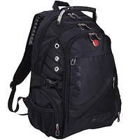 Рюкзак Wenger SwissGear 8810 с боковыми карманами и водонепроницаемым чехлом (L) Black